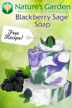 Free Blackberry Sage Soap Recipe by Natures Garden