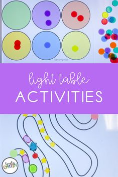 We have a light table center in our preschool classroom. I love using the light table to practice important pre-k skills. Come learn about 10 engaging light table activities that are fun and full of learning! Preschool Centers, Preschool Classroom, Play Based Learning, Learning Centers, Classroom Organization, Organization Ideas, Circle Light, Table Centers, Light Table
