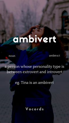 Ambivert is a person who's personality type is between extrovert and introvert. Extrovert is someone outgoing & social while introvert is someone shy. Interesting English Words, Unusual Words, Weird Words, Rare Words, Learn English Words, English Phrases, Cool Words, Good Vocabulary Words, Advanced English Vocabulary