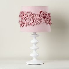 Ruffled and Ready Table Shade (Pink)  | Crate and Barrel