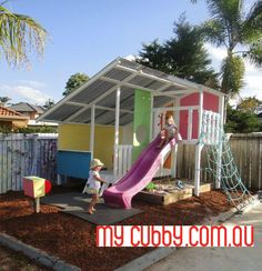 Looking For The Coolest Cubby Houses in Australia? Check Out Our DIY Kit Cubby Houses and Kids Forts. Cubby House Kits, Cubby Houses, Play Houses, Kids Outdoor Play, Kids Play Area, Outdoor Fun, Kids Outside Playhouse, Playhouse Outdoor, Kids Cubbies