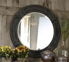Like the porthole of a great wooden ship