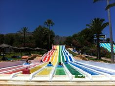 Aqualand  in Torremolinos. The largest water park on the Costa del Sol with lots of fun rides for all the family.