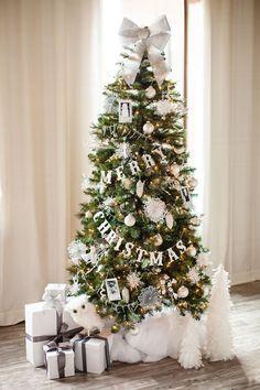 All-White Christmas Tree - ELLEDecor.com