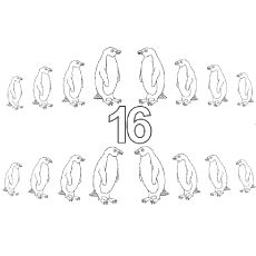 The Sixteen Penguins color