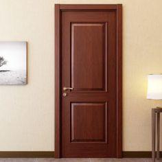 Oppein Walnut Solid Wood Interior Door for Bedroom - March 02 2019 at Wooden Front Door Design, Wooden Front Doors, Bedroom Door Design, Door Design Interior, Craftsman Interior, French Interior, Luxury Interior, Interior Doors For Sale, Brown Interior Doors
