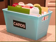 Card organizer. I like to pick up cards here and there when I find ones I like, this way I can organize them!