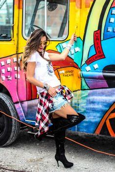 Look com T-shirt & Over the knee - Blog de Moda e Look do dia -...