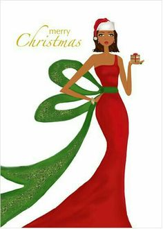 Gift of Christmas Design - Beautiful African American Art Merry Christmas Images, Black Christmas, Vintage Christmas Cards, Christmas Design, Christmas Greeting Cards, Christmas Pictures, Merry Xmas, Christmas Art, Christmas Greetings
