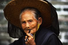 Hakka Woman in Kam Tin Village, China
