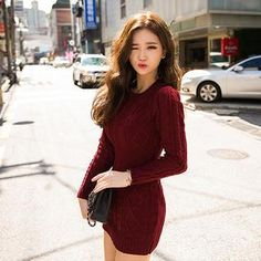 Buy 'chuu – Cable-Knit Sweater Mini Dress' with Free International Shipping at YesStyle.com. Browse and shop for thousands of Asian fashion items from South Korea and more!