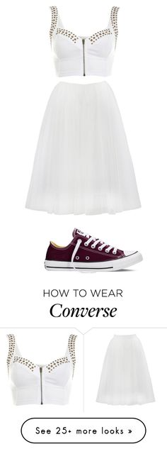 """Rebel Wedding"" by gracerose03 on Polyvore featuring Miss Selfridge, Bailey 44, Converse, women's clothing, women's fashion, women, female, woman, misses and juniors"