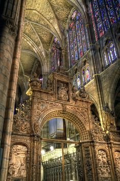 "Interior de la Catedral,   Santa Maria de León Cathedral a.k.a. ""The House of Light""  a.k.a. Pulchra Leonina   -   Leon, Northwest Spain"