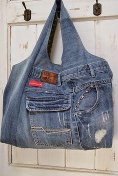 PedisHandmade: Inspiriert von der Charlie-Bag....Jeans-Upcyling