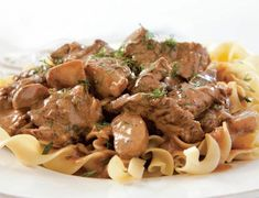 I used round steak. The usual choice for stroganoff—tenderloin—makes for a bland (and expensive) dish. But beefing up this classic took more than a different steak. We had to rethink our sear tactics. Entree Recipes, Meat Recipes, Fall Recipes, Cooking Recipes, Healthy Recipes, Pasta Recipes, Recipies, Different Steaks, Cooks Illustrated Recipes