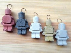 Two 2 Lego Minifigures  Concrete  Small  6 colors by Concreative