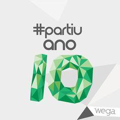 Lettering Campanha 10 anos Agência Wega on Behance