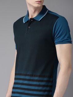 Stylish Shirts, Cool T Shirts, Polo T Shirt Design, Pique Shirt, Teal Blue, Shirt Designs, Menswear, Mens Tops, Polo Shirts