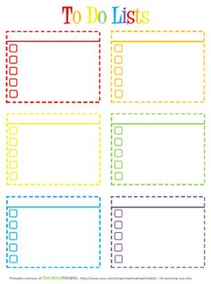To Do List {Organization Printable} Clean Mama is over at The Idea Room giving helpful hints about organizing and cleaning. This colorful to do list is a free… To Do Planner, Planner Pages, Life Planner, Happy Planner, Class Planner, Planner Inserts, To Do Lists Printable, Printable Planner, Planner Stickers