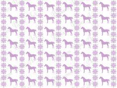 Violet Horses and Snow - Digital Scrapbooking Paper - Printable Sheets - Scrapbook - 12x12 inches - Blossom Paper Art