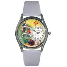 Whimsical Womens Dolphin Navy Blue Leather Watch