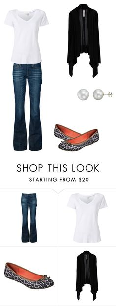 """""""Untitled #300"""" by armsdani ❤ liked on Polyvore featuring 7 For All Mankind, Witchery, Merona, Rick Owens and A B Davis"""