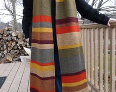 e9690b2a899 Doctor Who Scarf, Garter Stitch, Wool Yarn, How To Look Better, Hand
