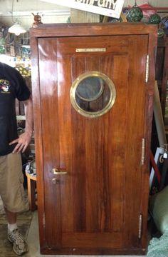 nautical door with porthole | Ship Salvage - Nautical Antique Warehouse