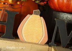 Interchangeable Home Letters {pumpkin}