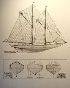 The banking schooner Bluenose, Nova Scotia Yacht Design, Boat Design, Wooden Boat Building, Classic Yachts, Build Your Own Boat, Delphine, Boat Stuff, Yacht Boat, Small Boats