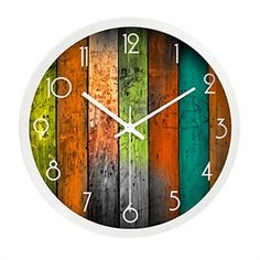 Specification Theme: Houses  Time Display: Analog  Style: Country  Indoor/Outdoor: Indoor  Materials: Metal  Dimension (inch): 12*12  Net Weight (kg): 0.7