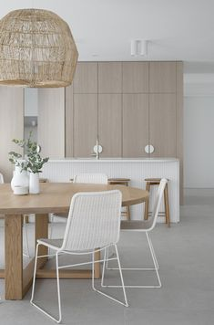 Pendant Lighting Over Dining Table, Dining Table Height, White Dining Chairs, Dining Room, Colored Ceiling, Home Decor Inspiration, House Design, Interior Design, Decoration