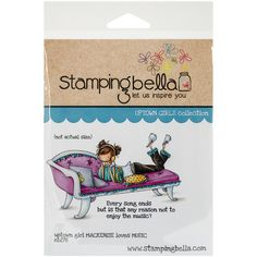 """Stamping Bella Cling Rubber Stamp 3.75""""X5""""-Uptown Girl Mackenzie Loves Music - Overstock™ Shopping - Big Discounts on Clear & Cling Stamps"""