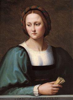 """Lucrezia Sommaria"", Ridolfo Ghirlandaio Italian National Gallery of Art, Washington"