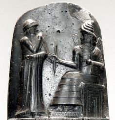 The Babylonian king Hammurabi, as shown standing next to Mesopotamian deity Shamash on the Law Code of Hammurabi. This scene portrays the king receiving his investiture. Following the collapse of the Third Dynasty of Ur around 2000 BC, Mesopotamia...