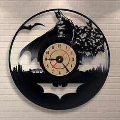 Horloge Murale décorative Style Vinyl Batman fan 11 modèles différents - nouvention