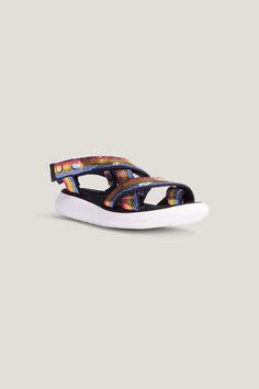 045ff30de X Sandal Black And White Mix Neon Red