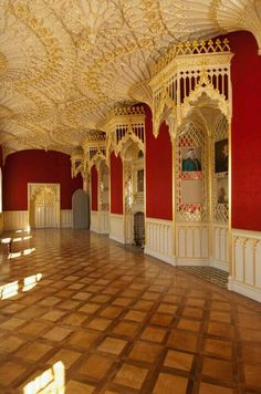 Strawberry Hill House.  Papier mache ceilings - beautifully restored.