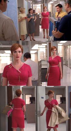 A Stitching Odyssey: Mad Men style files - Joan Harris (nee Holloway) Mad Men Fashion, Fashion Tv, 1960s Fashion, Work Fashion, Fashion Ideas, Fashion Design, Joan Mad Men, Taurus, Mad Men Joan Holloway