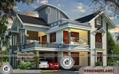 Small House Plans Contemporary New Two Story House Plans Free Three Bedroom House Plan, Two Story House Plans, Simple House Plans, Beautiful House Plans, New House Plans, House Design Pictures, Small House Design, New Home Designs, Home Design Plans