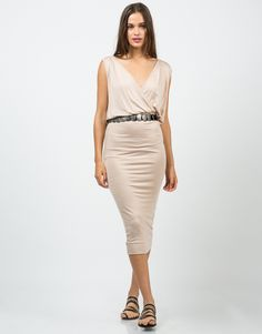 Grecian Midi Dress