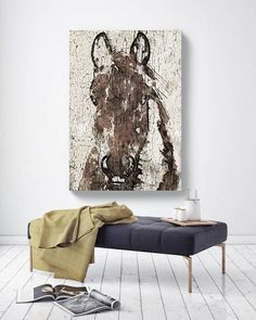 Shadow Horse. Extra Large Horse Horse Wall Decor Brown White