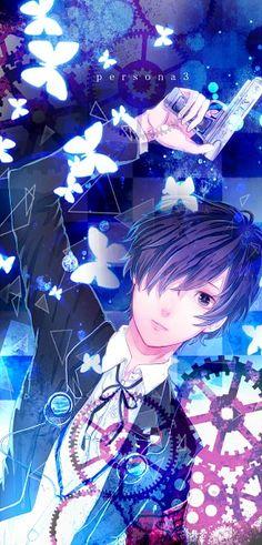 Persona 3 Anime Blue Hair, Shin Megami Tensei Persona, I Love Games, Persona 4, Otaku, Background Pictures, Video Game Art, Manga Games, Kawaii Anime