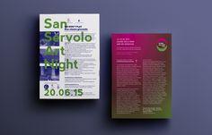 San Servolo Art Night, flyer — hstudio