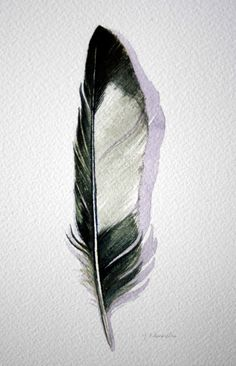 Magpie Feather  - Jody Edwards, Etsy    for a new tattoo?!
