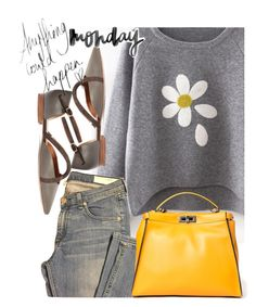 """Anything could happen on a Monday!"" by juliehooper ❤ liked on Polyvore featuring rag & bone, Fendi, Malone Souliers and Monday"