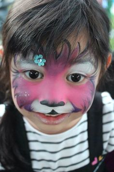Cute kitty cat || Fanciful Faces, Chicago Face Painting - Chantal Rushing