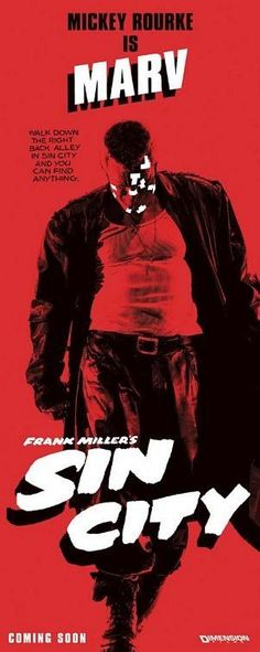 Marv from Sin City - Both in the comic and as Mickey Rourke in the movie
