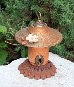 Birdhouse Reclaimed Items Found Objects Handcrafted by channa01, $30.00