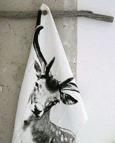 The deer tea towel I have been admiring from By Nord......♥